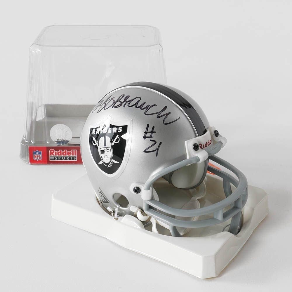 Cliff Branch Autographed Mini Oakland Raiders Football Helmet - PSA/DNA
