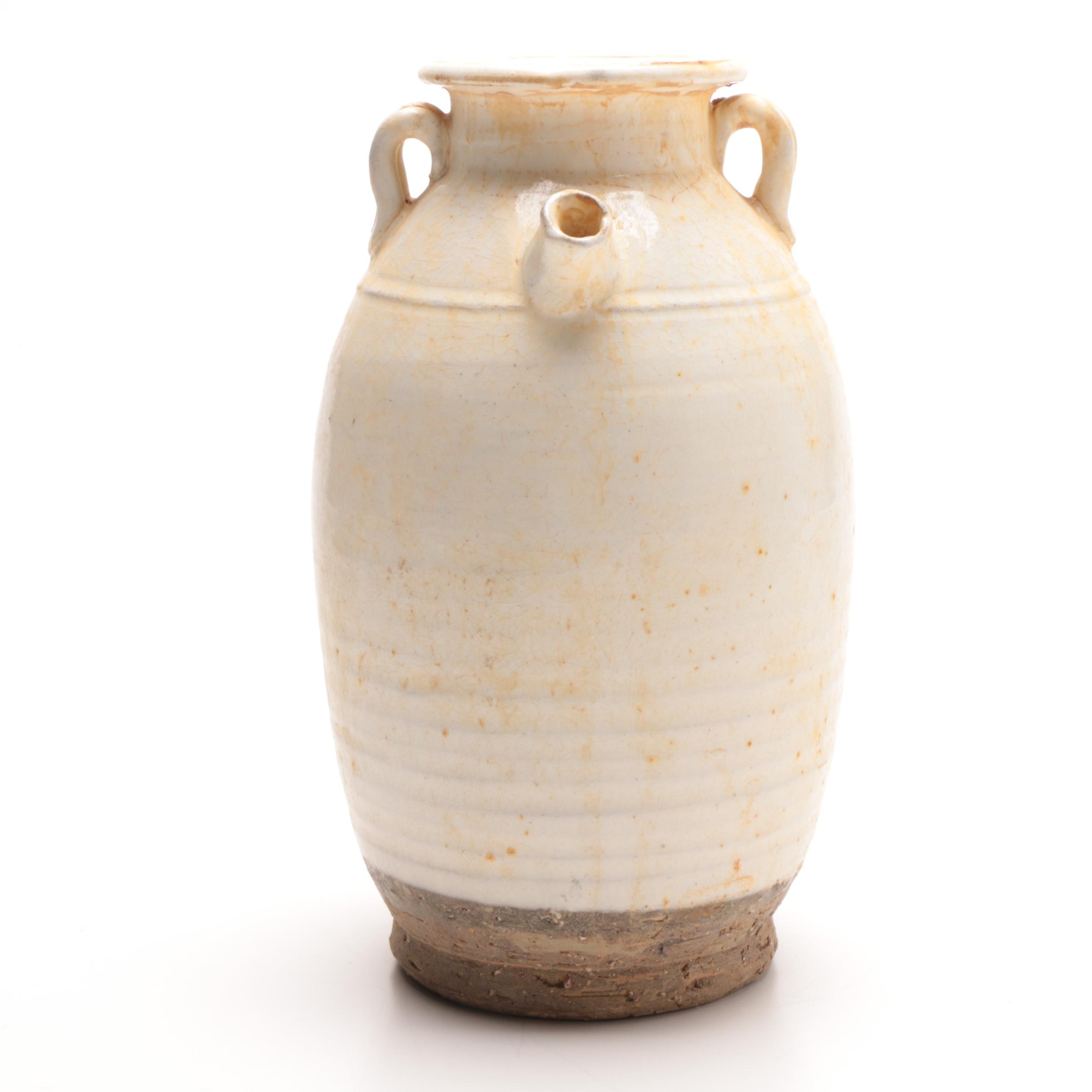 Vintage Chinese White Ceramic Jar
