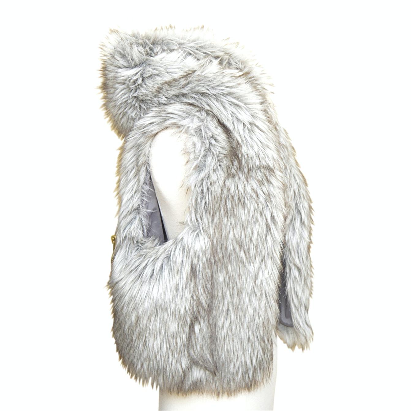 Women's Ann Taylor Loft Faux Fur Vest
