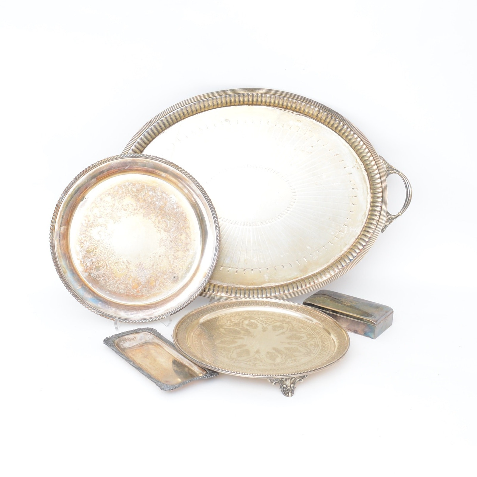 Silver Plate Serveware from Goldsmiths & Silversmiths' Co. and F. B. Rogers