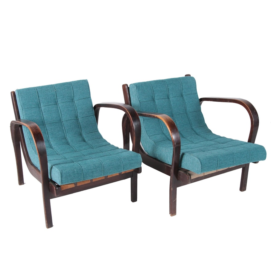 Cool Czech Modern Bentwood Lounge Chair Pair By Kozelka And Kropacek Circa 1940 Spiritservingveterans Wood Chair Design Ideas Spiritservingveteransorg