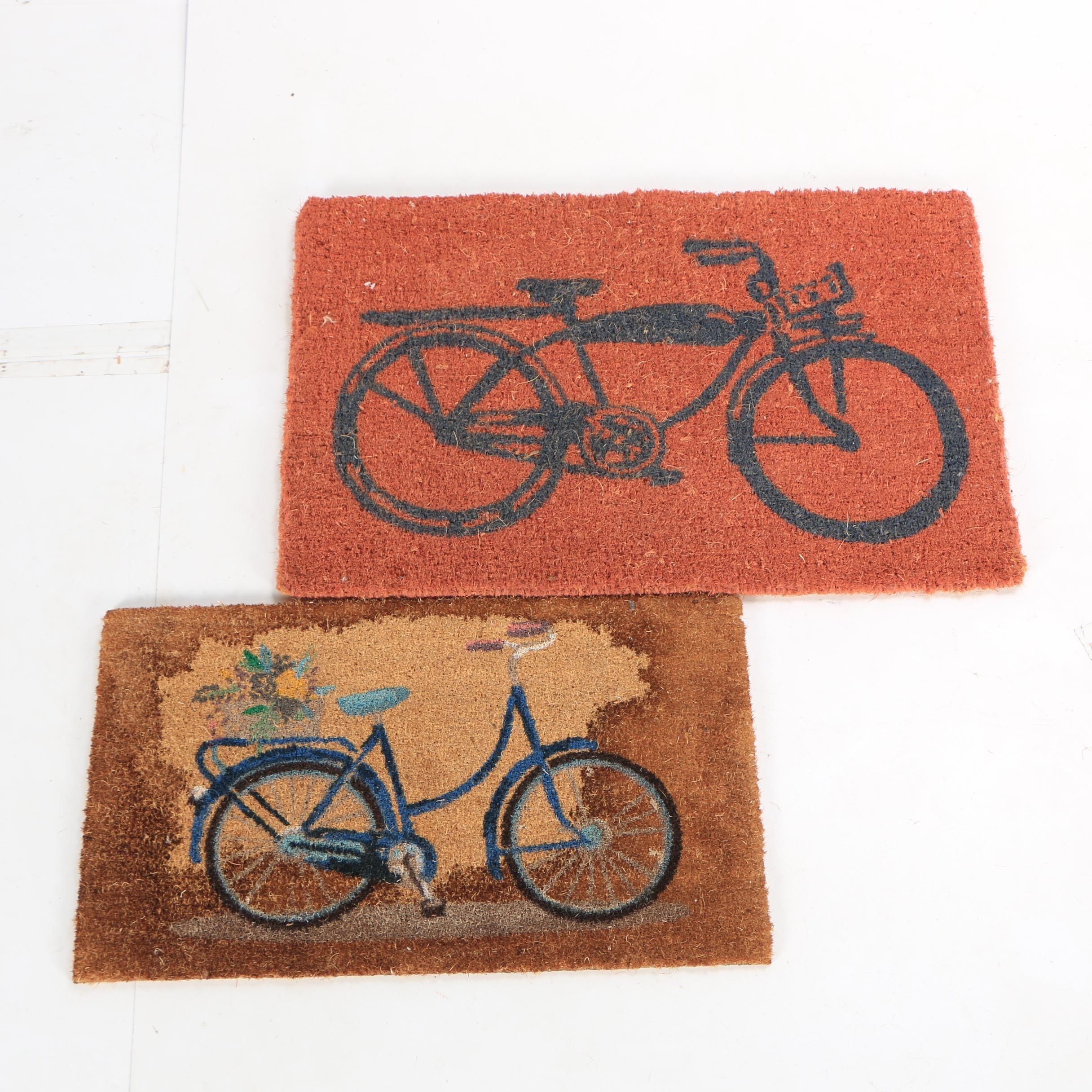 Bicycle-Themed Sisal Doormats