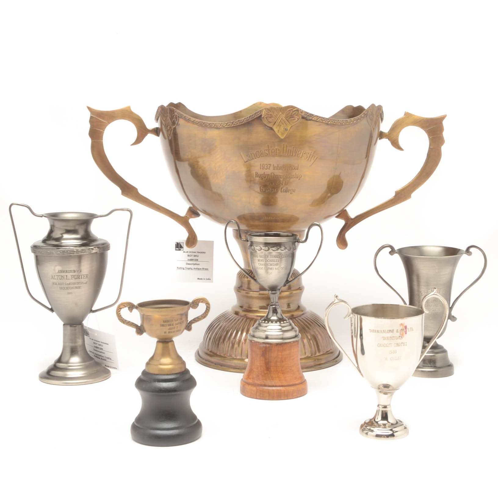 Six Loving Cup Trophies
