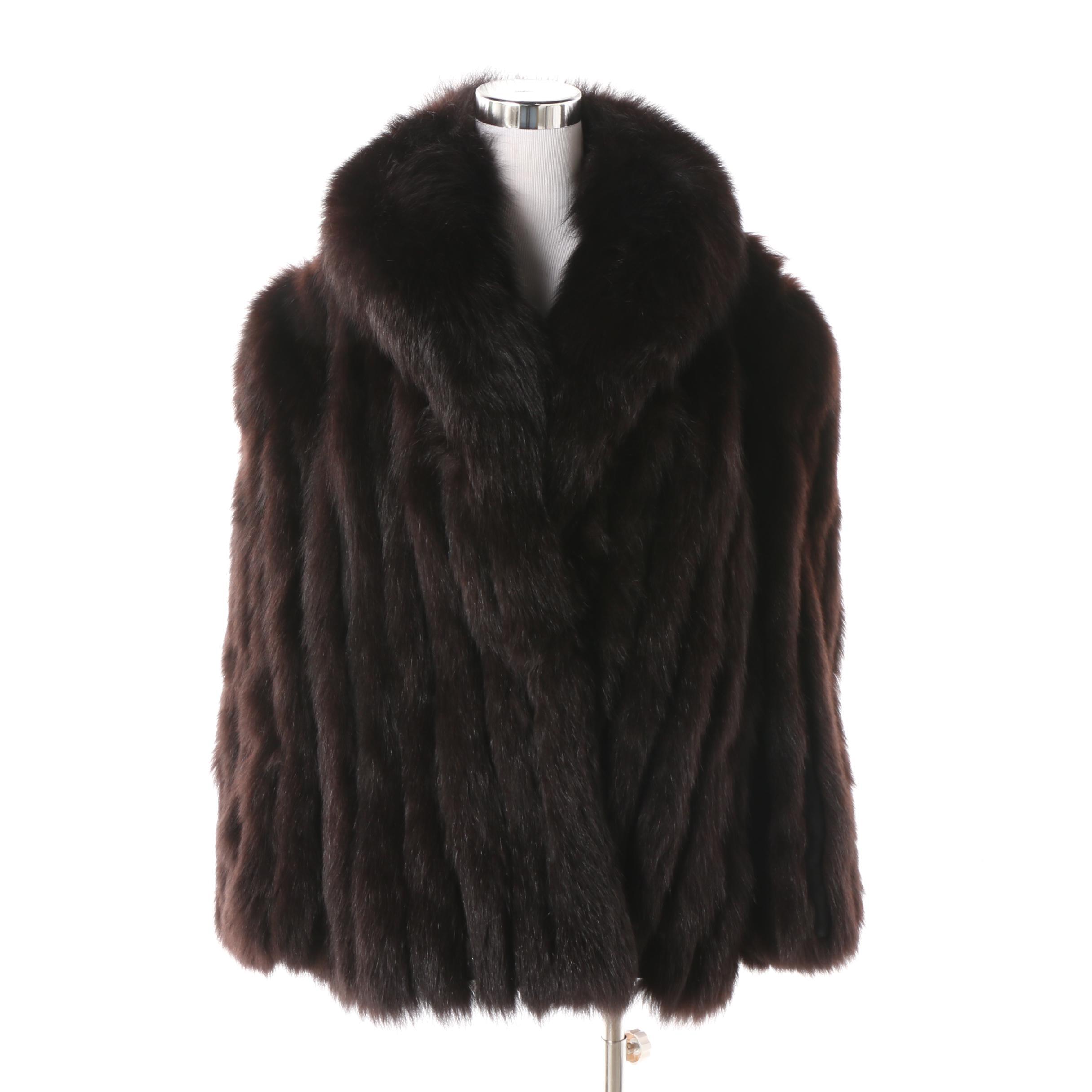 Women's Scandinavian Fur Company Dyed Dark Brown Fox Fur Jacket