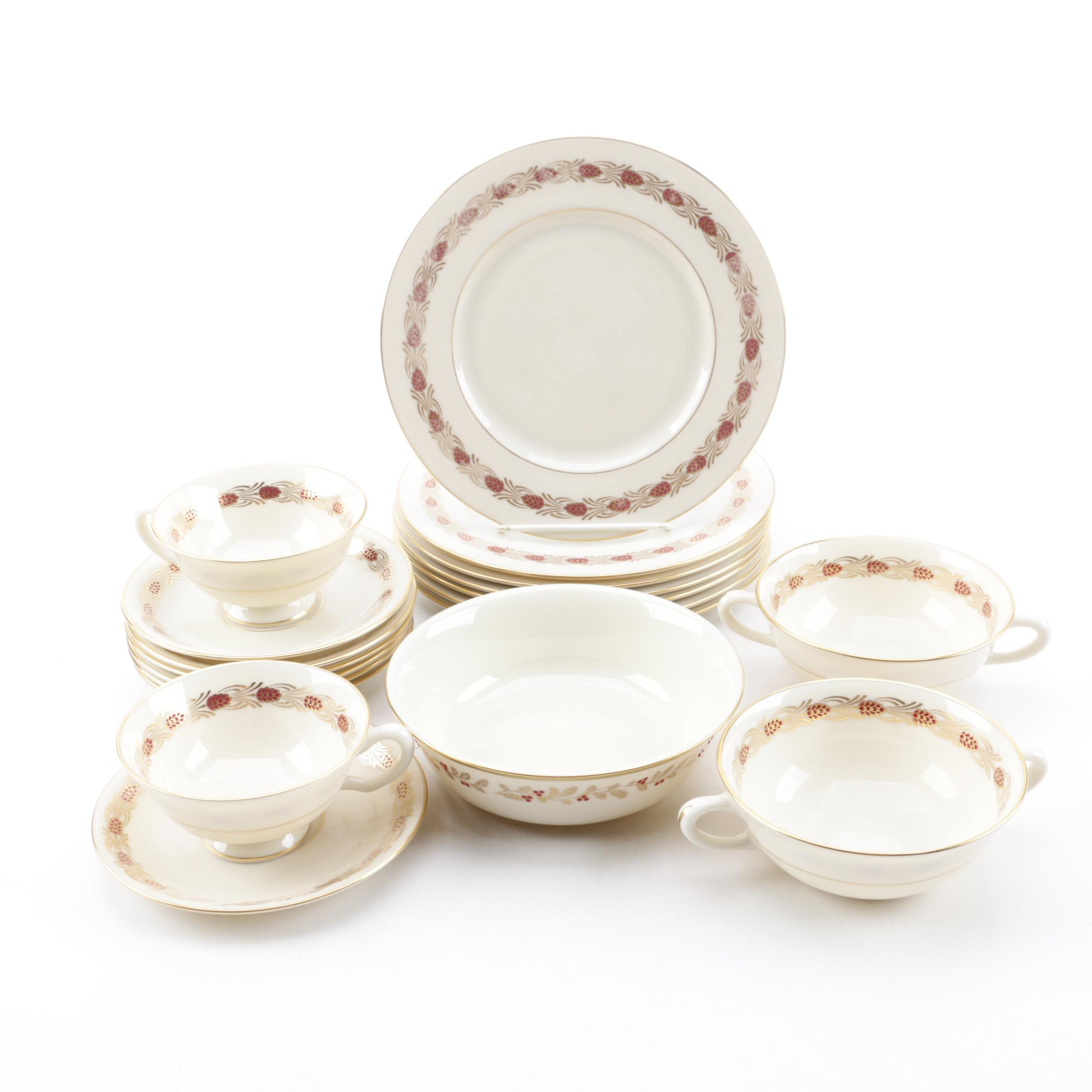 "Lenox ""Pinehurst"" and ""Eternal Christmas"" Bone China Dinnerware"