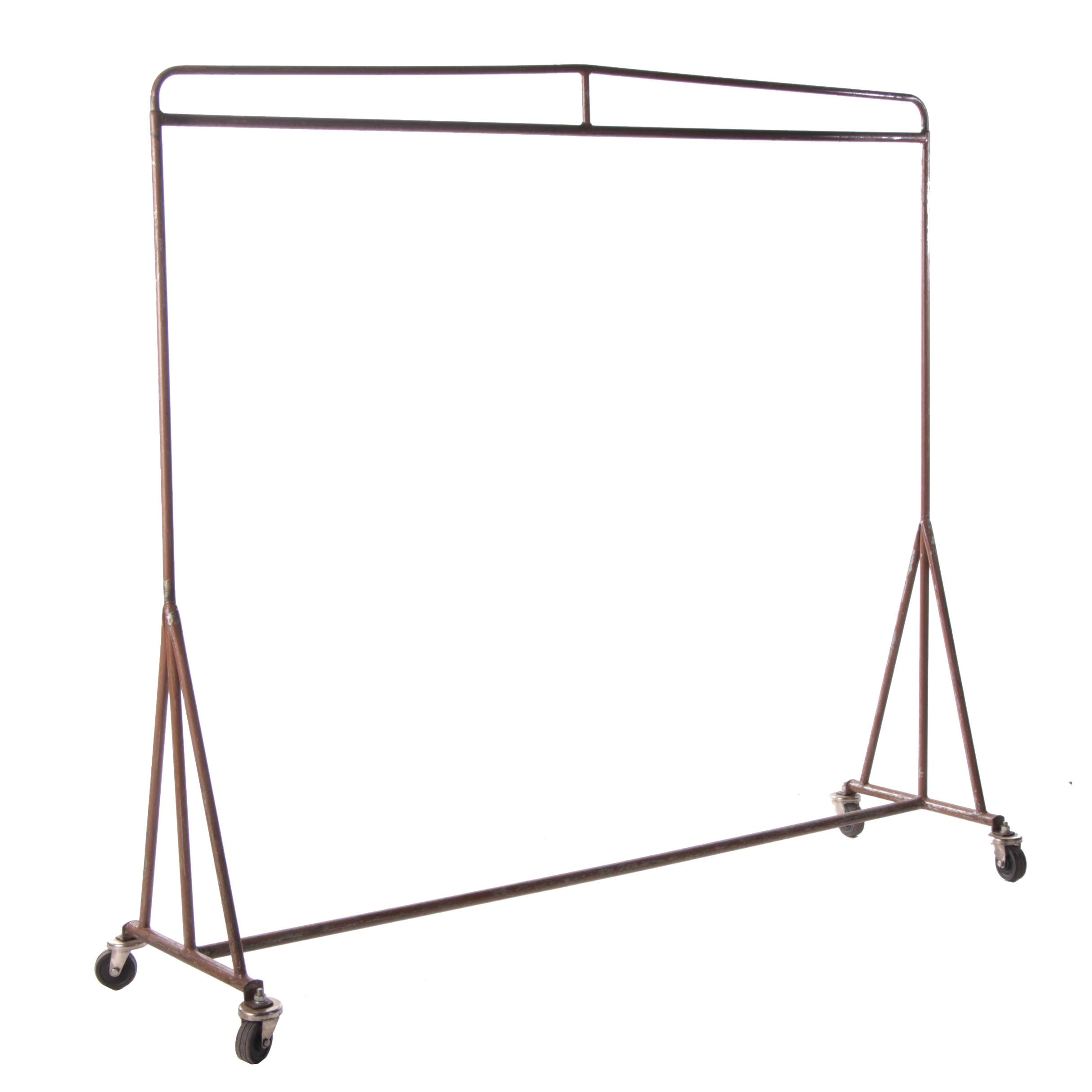 Industrial Style Painted Metal Clothing Rack, Late 20th Century