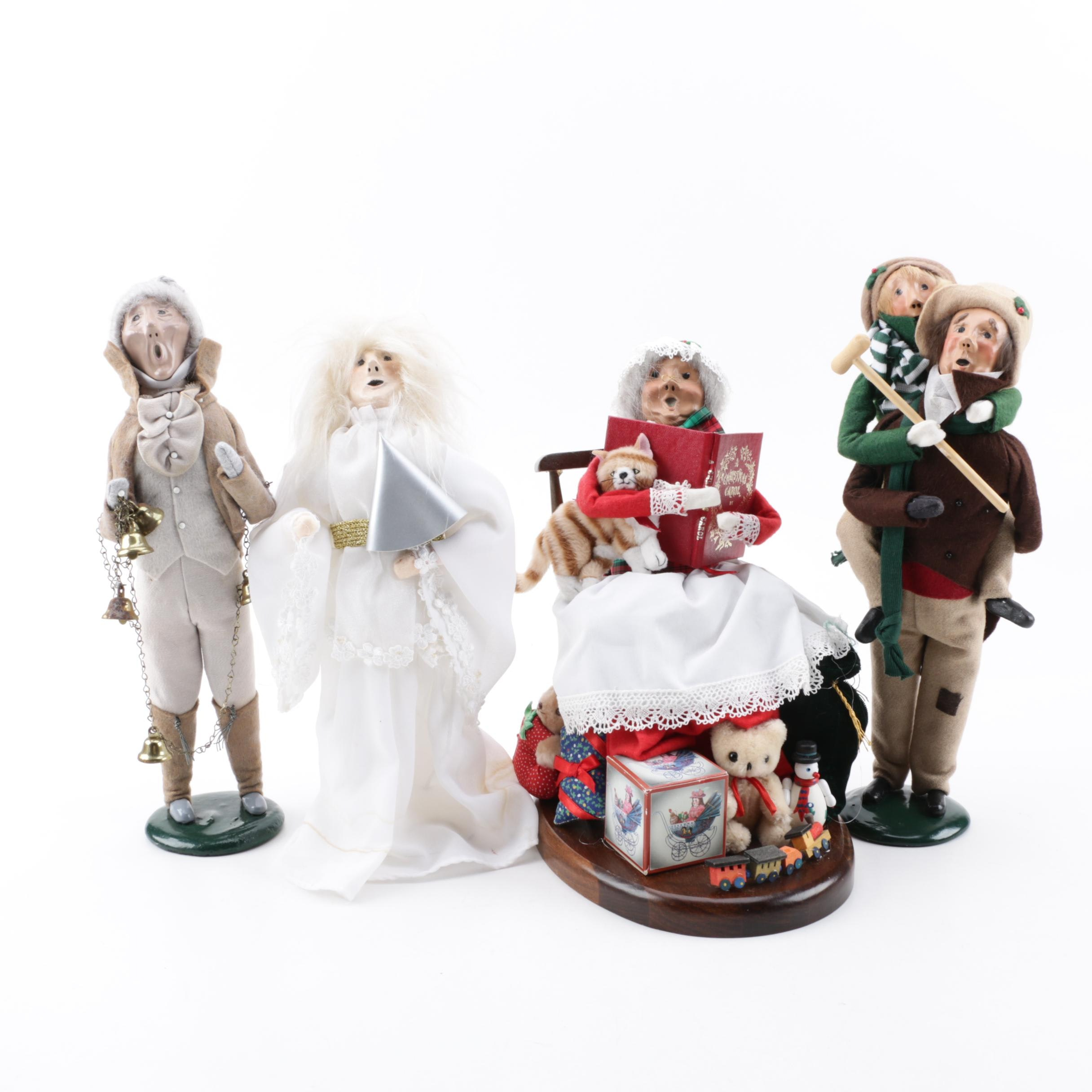 "Byers' Choice Handmade ""Christmas Carol"" Themed Figurines, Late 20th Century"