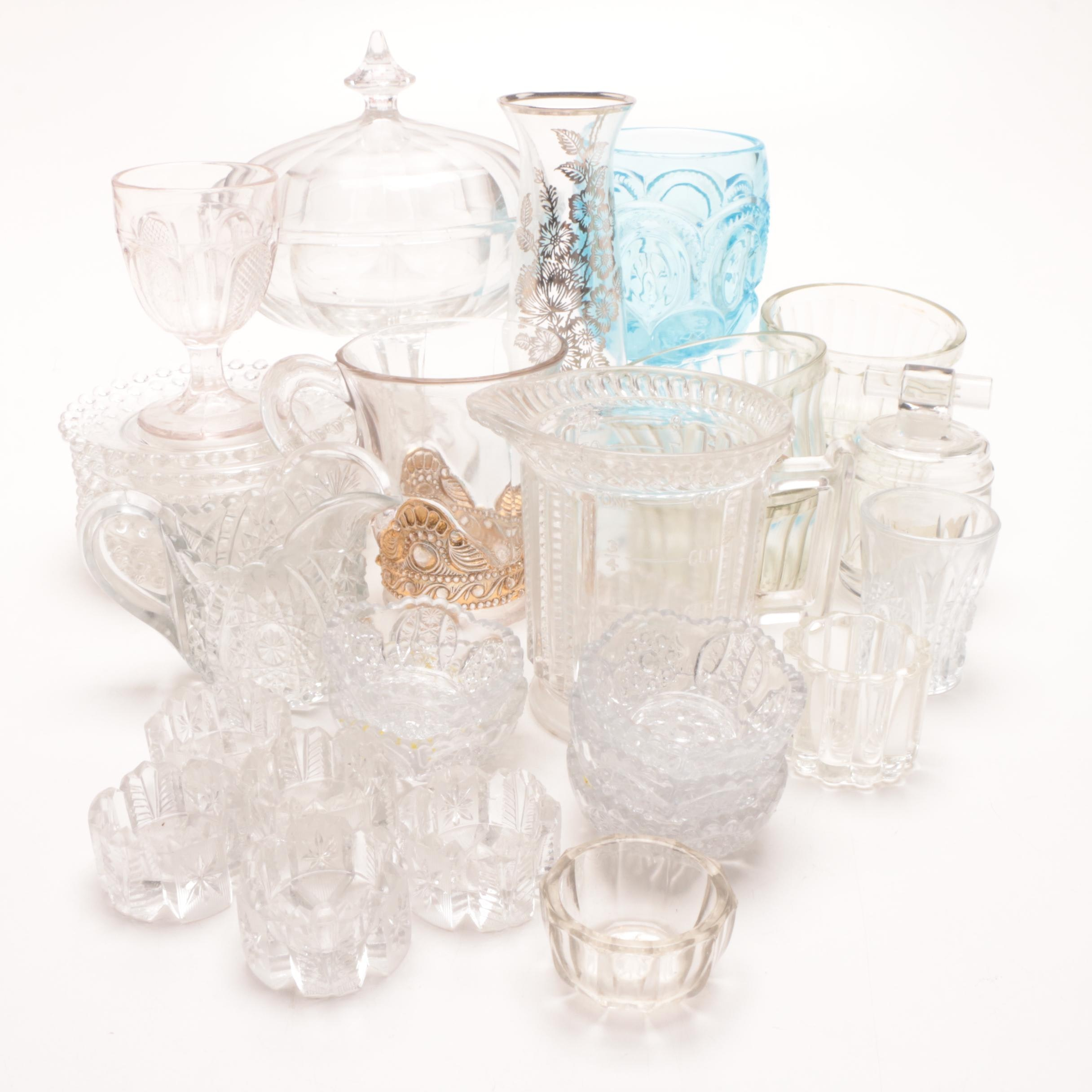 Grouping of Pressed Glass Tableware