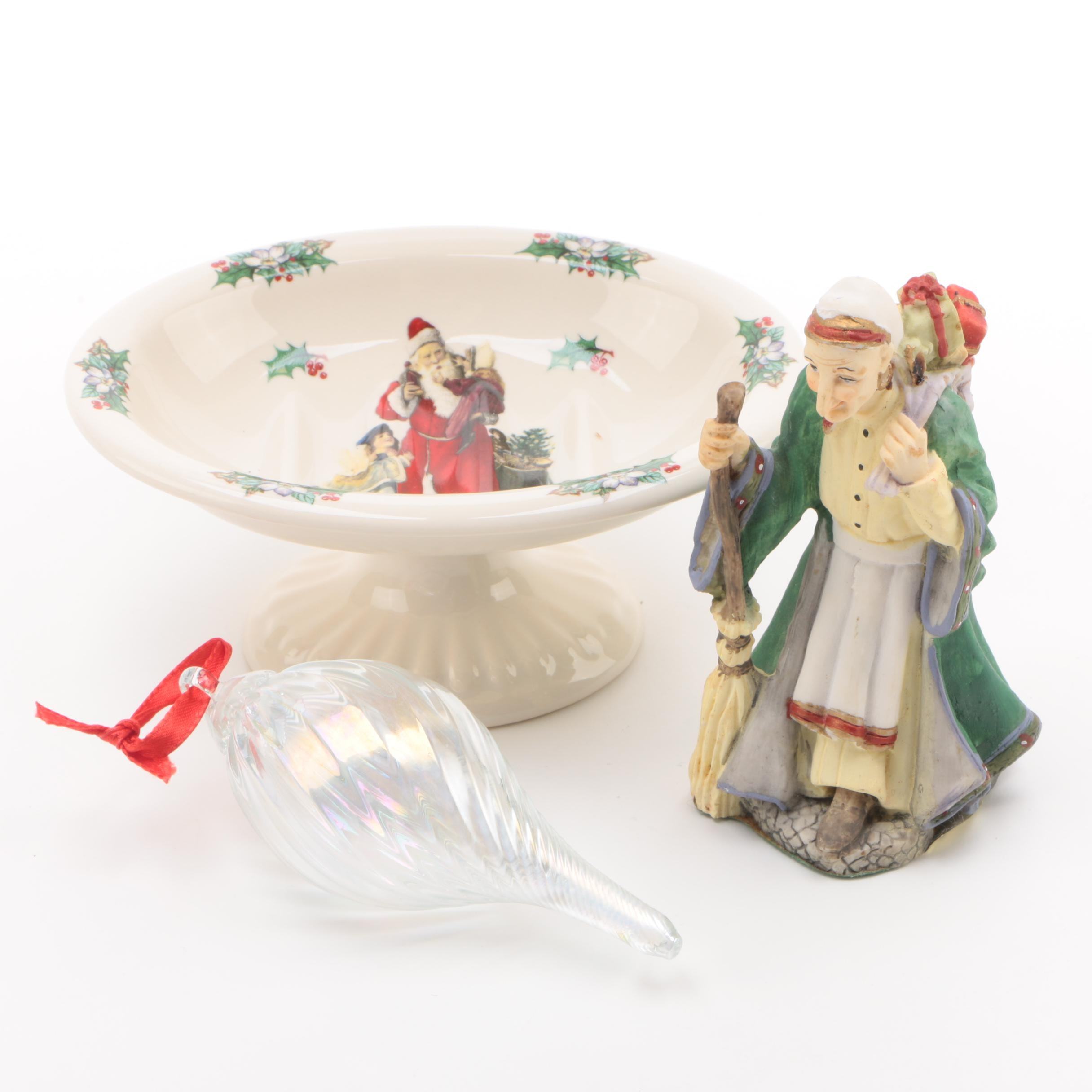 """La Befana"" Porcelain Figurine and Other Christmas Decor"