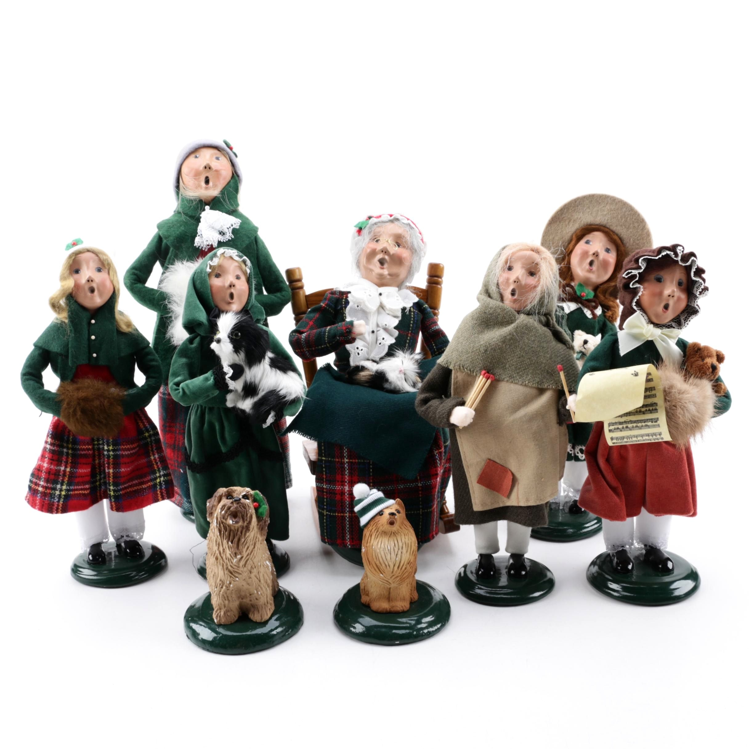 "Byers' Choice ""The Carolers"" Handmade Papier-mâché Figurines"