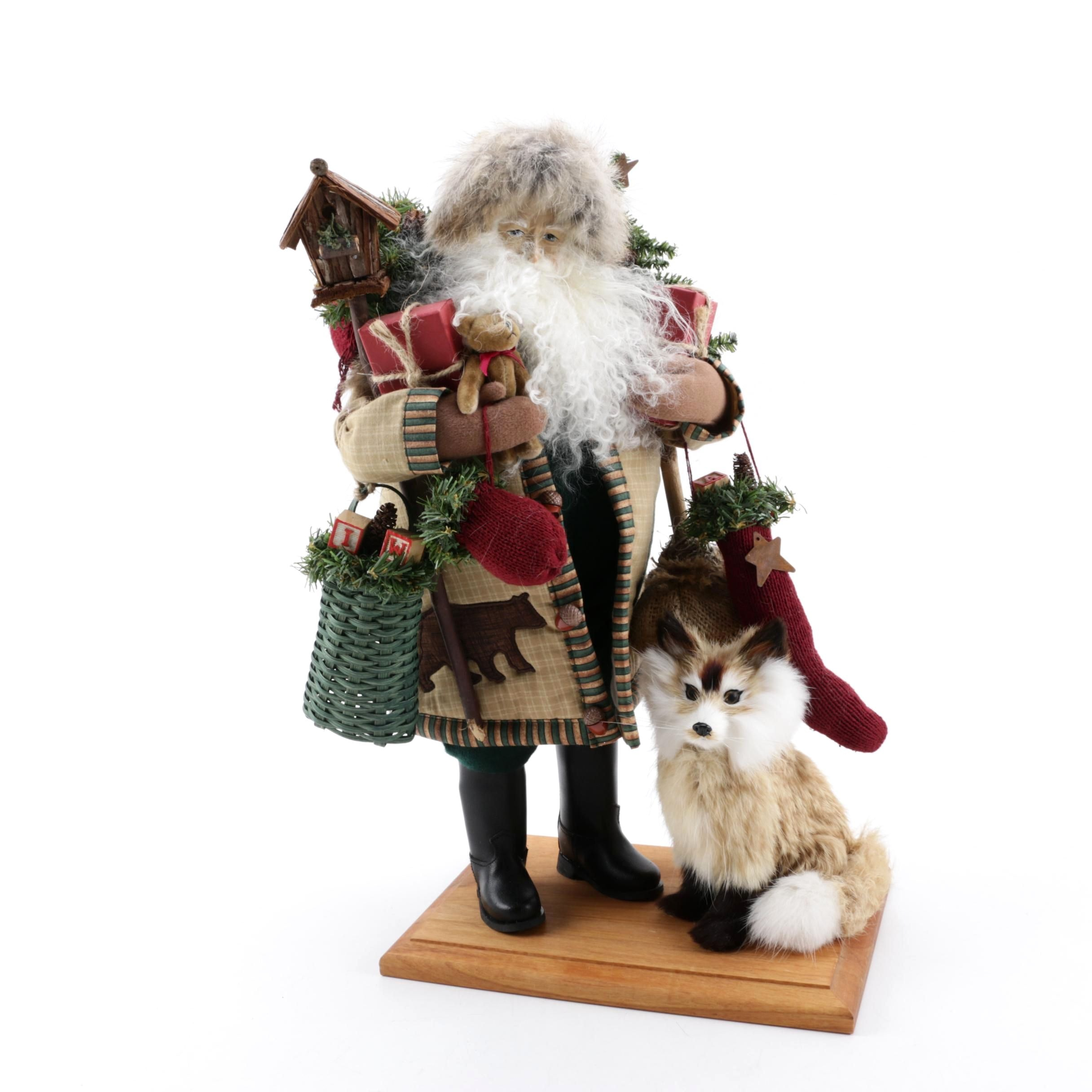 "Lynn Haney ""Christmas in Fox Hollow"" Santa Figurine"