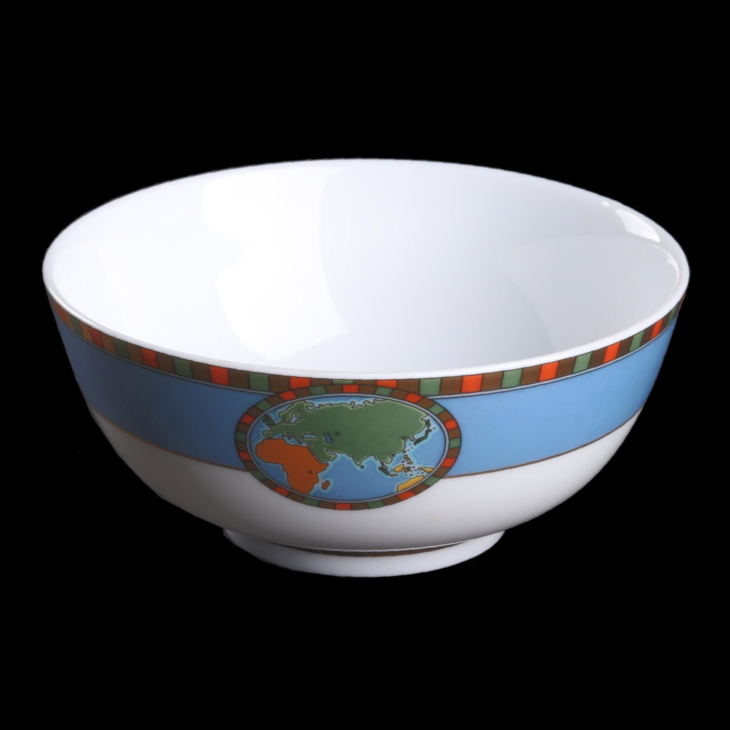 Tiffany & Co. Map Motif Porcelain Dessert Bowl