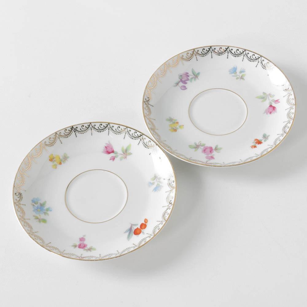"""Tirschenreuth """"Old Meissen"""" Porcelain Saucers"""
