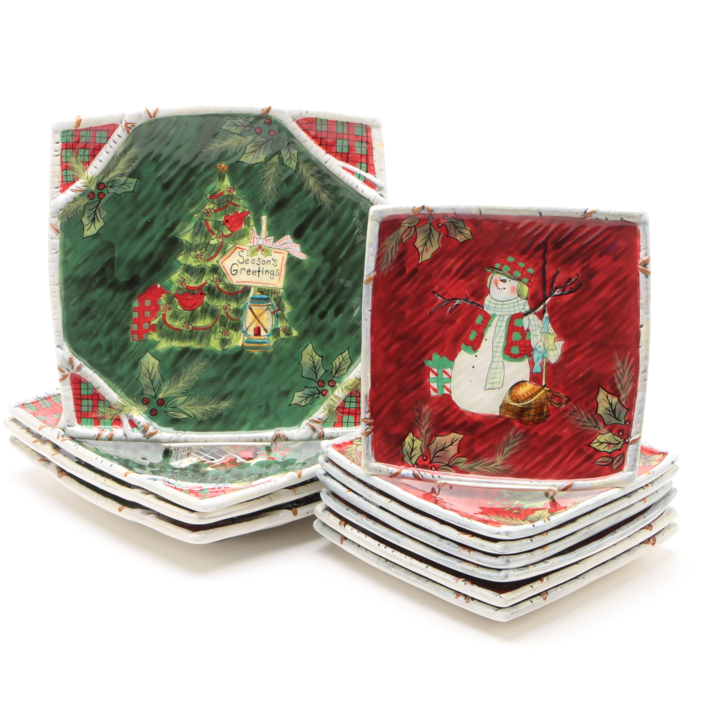 Susan Winget Christmas and Winter Themed Dinnerware