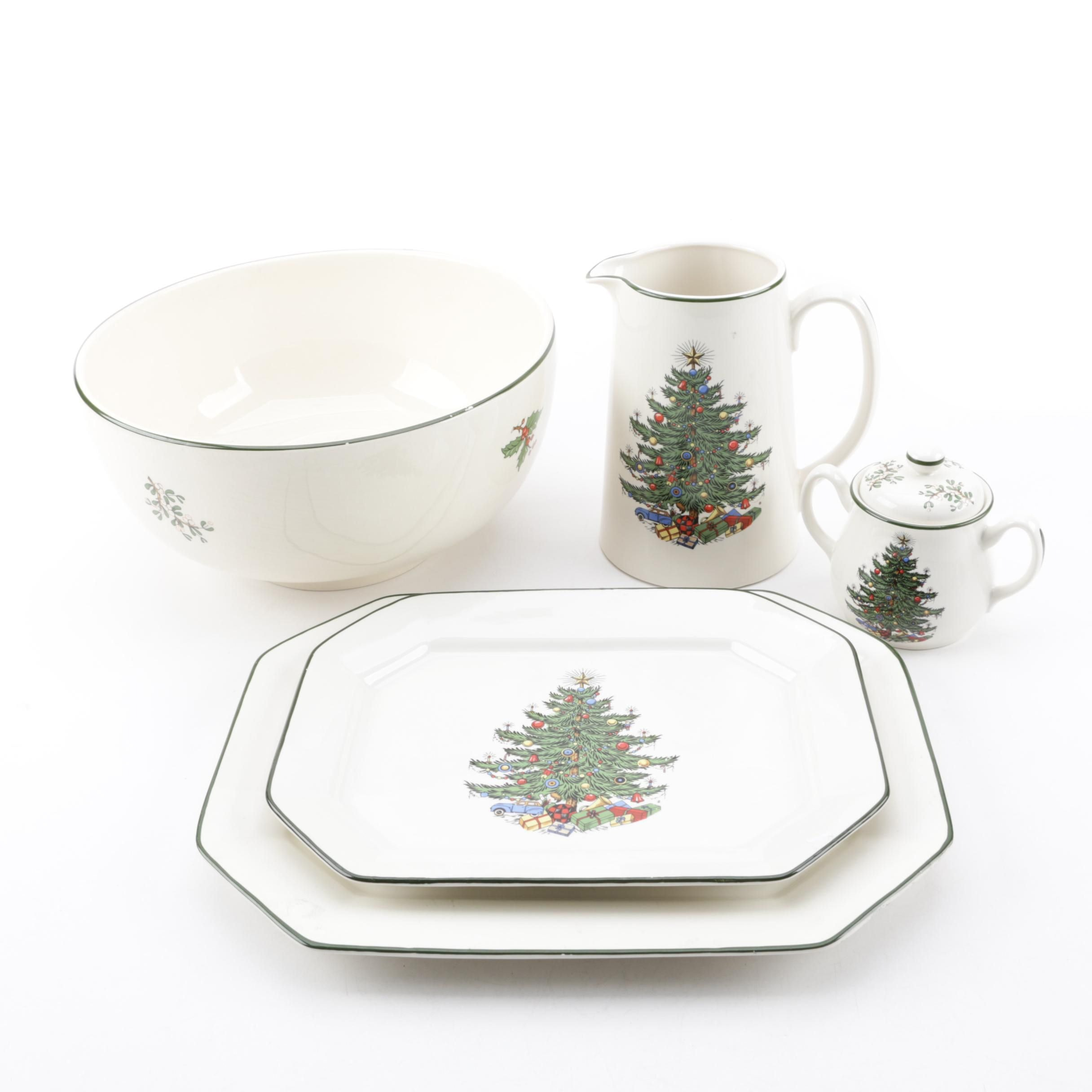"Cuthbertson ""Original Christmas Tree"" Ceramic Serving Pieces"