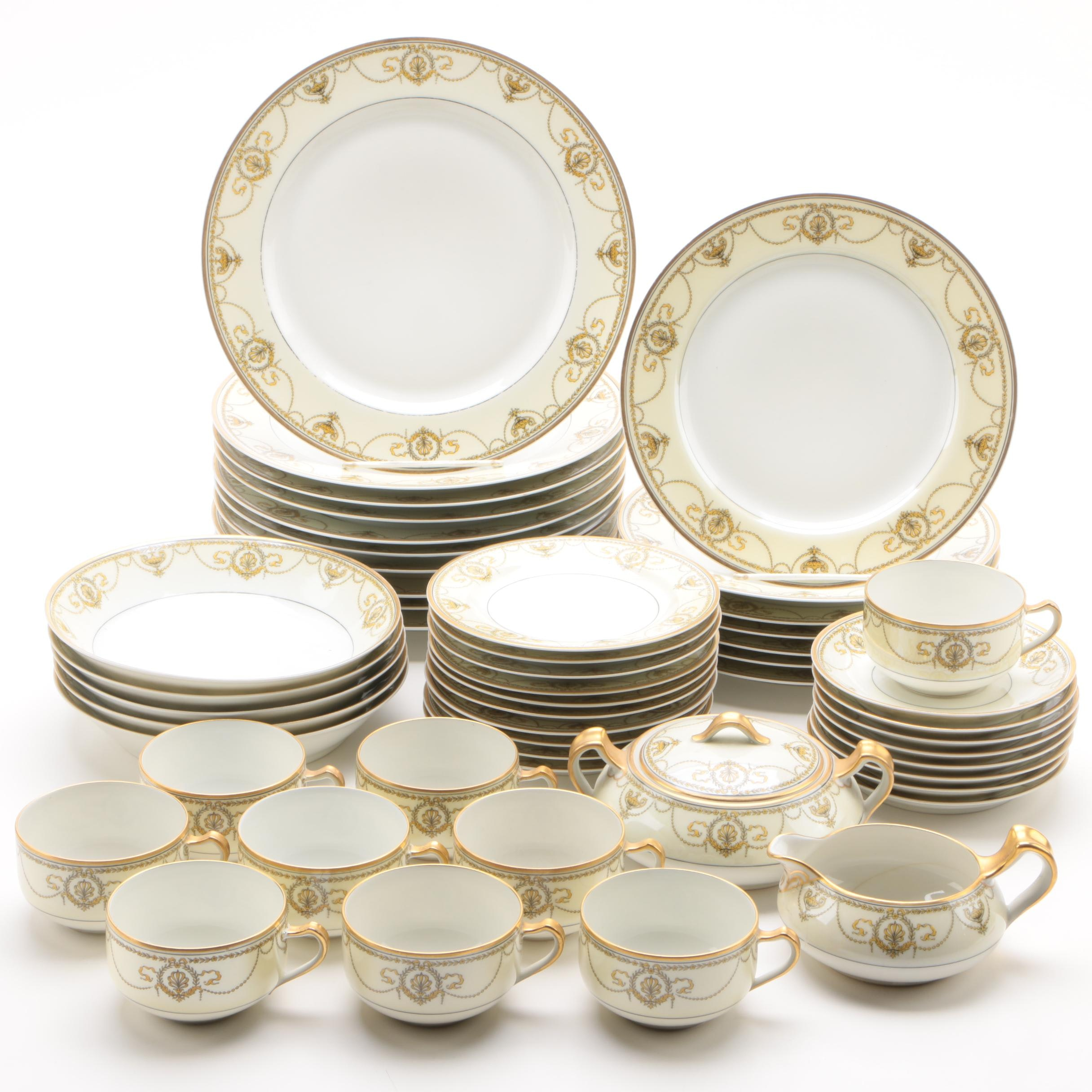 "Haviland Limoges ""Eugenie"" Porcelain Dinnerware c. 1889-1931"
