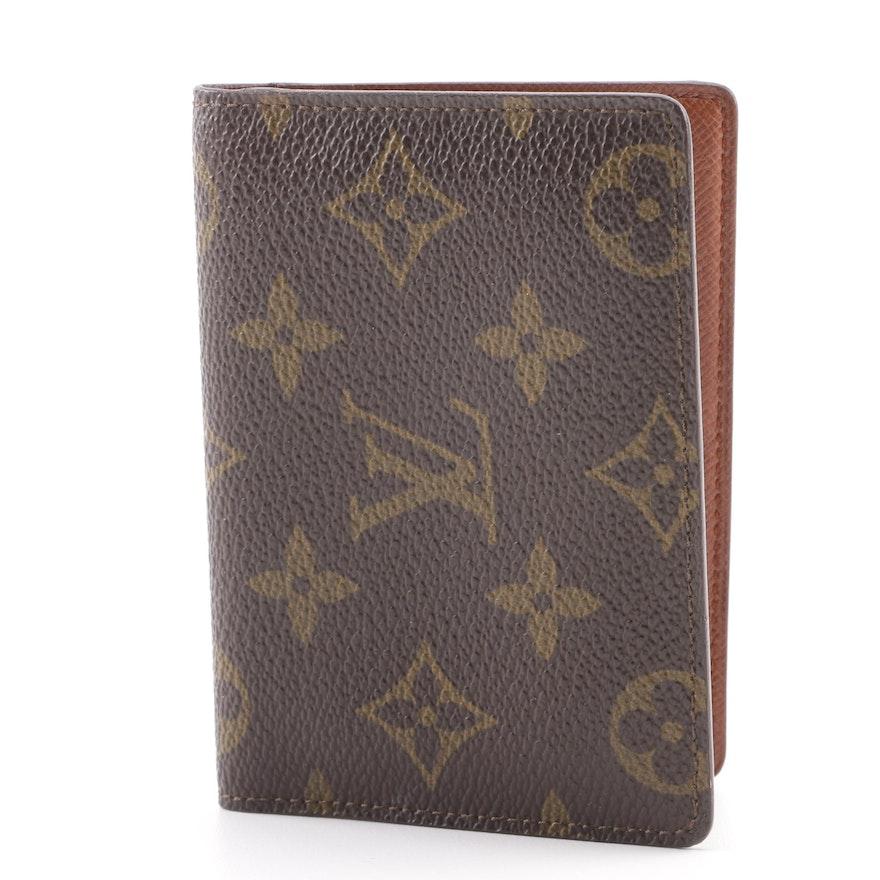 9e95506d7fd1 Louis Vuitton Monogram Coated Canvas Card Holder   EBTH