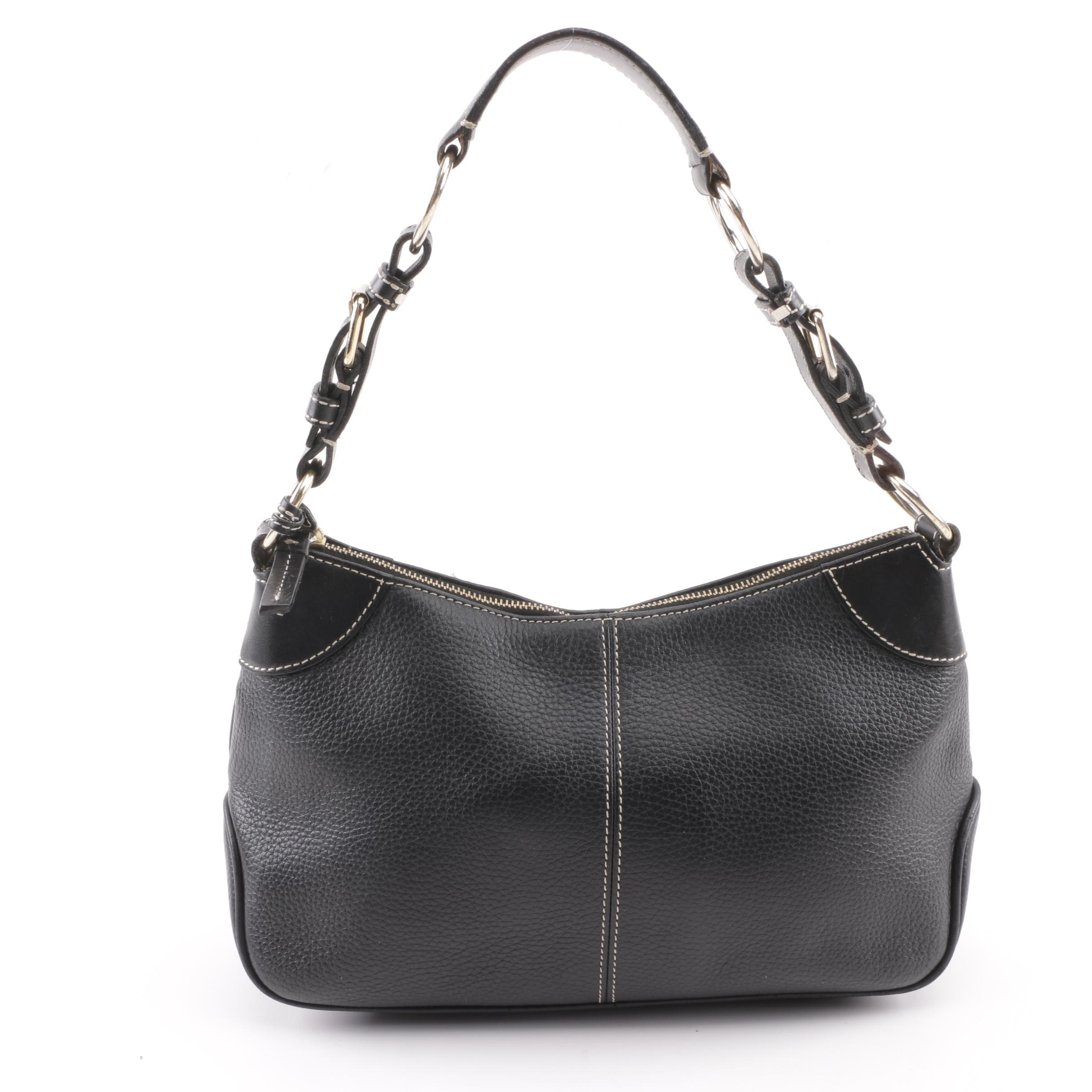 Dooney & Bourke All-Weather Black Leather Top Handle Bag