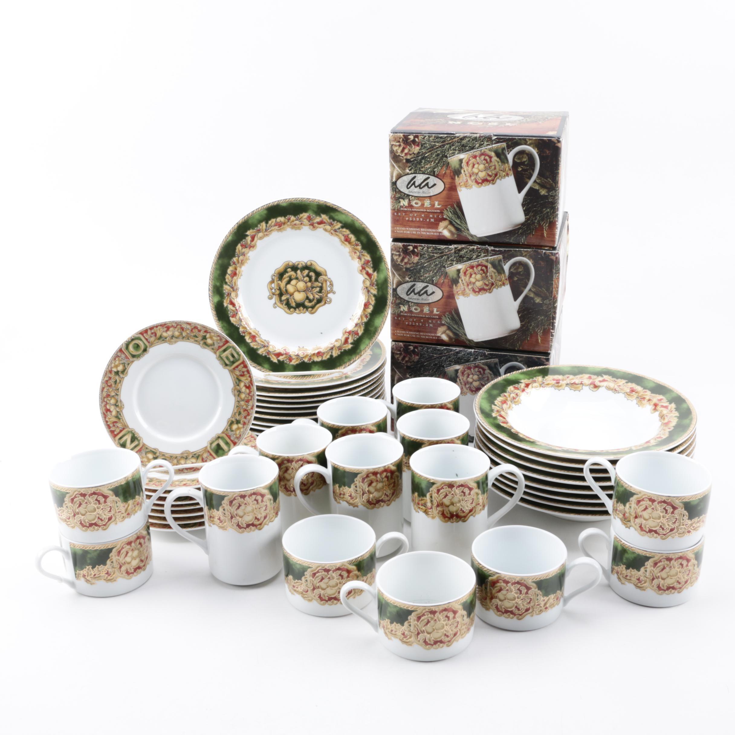 """American Atelier """"Noel"""" Porcelain Dinnerware"""