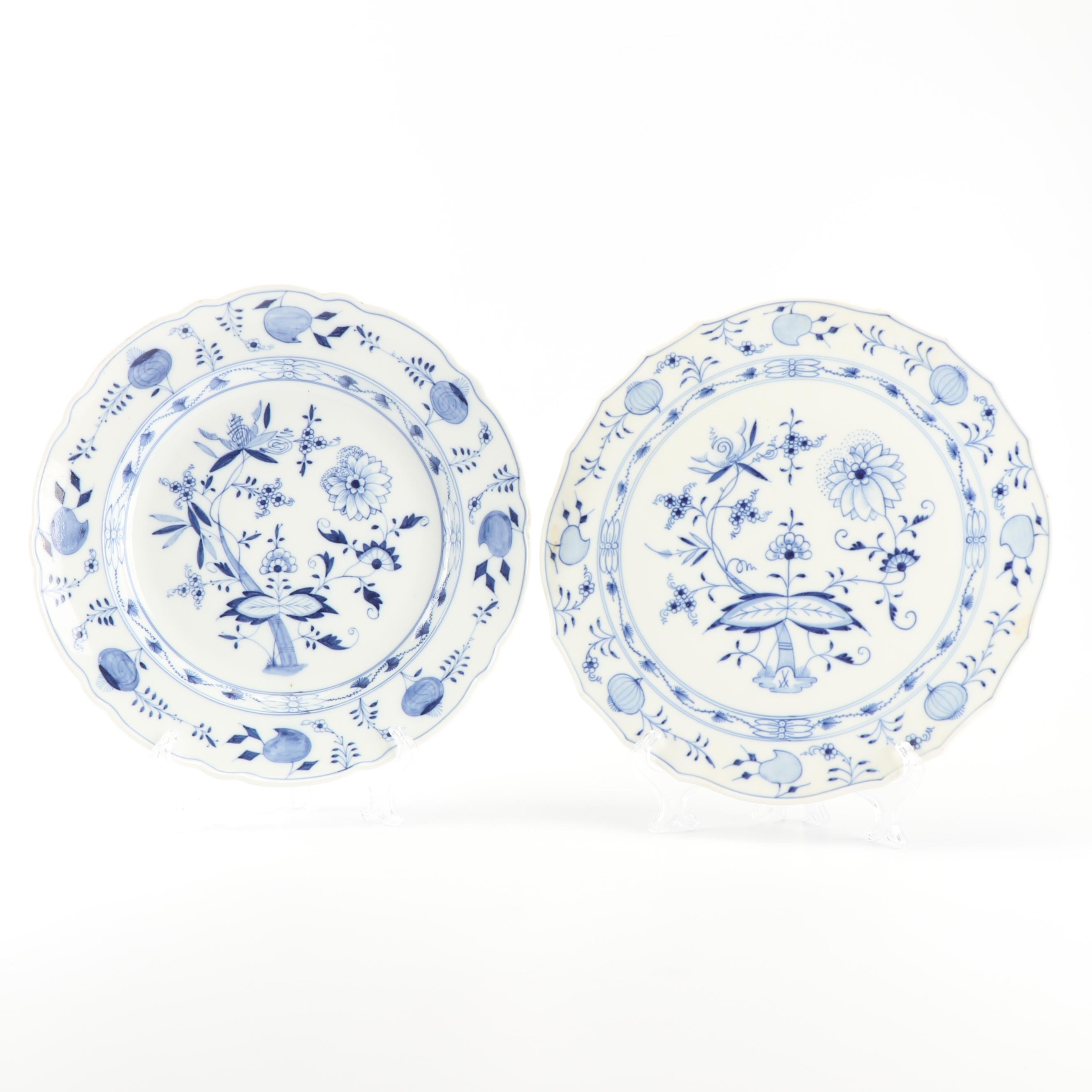Two Meissen Porcelain Serving Plates