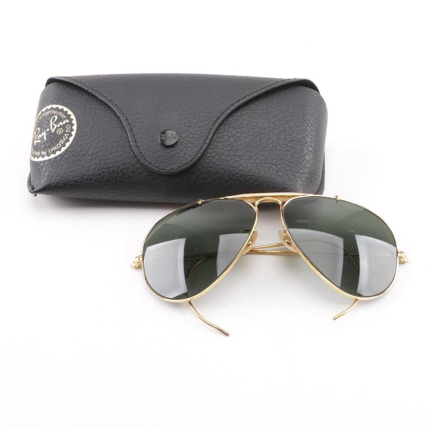 f669a3b3c1bb Circa 1970s Vintage Ray-Ban Outdoorsman Aviator Sunglasses : EBTH