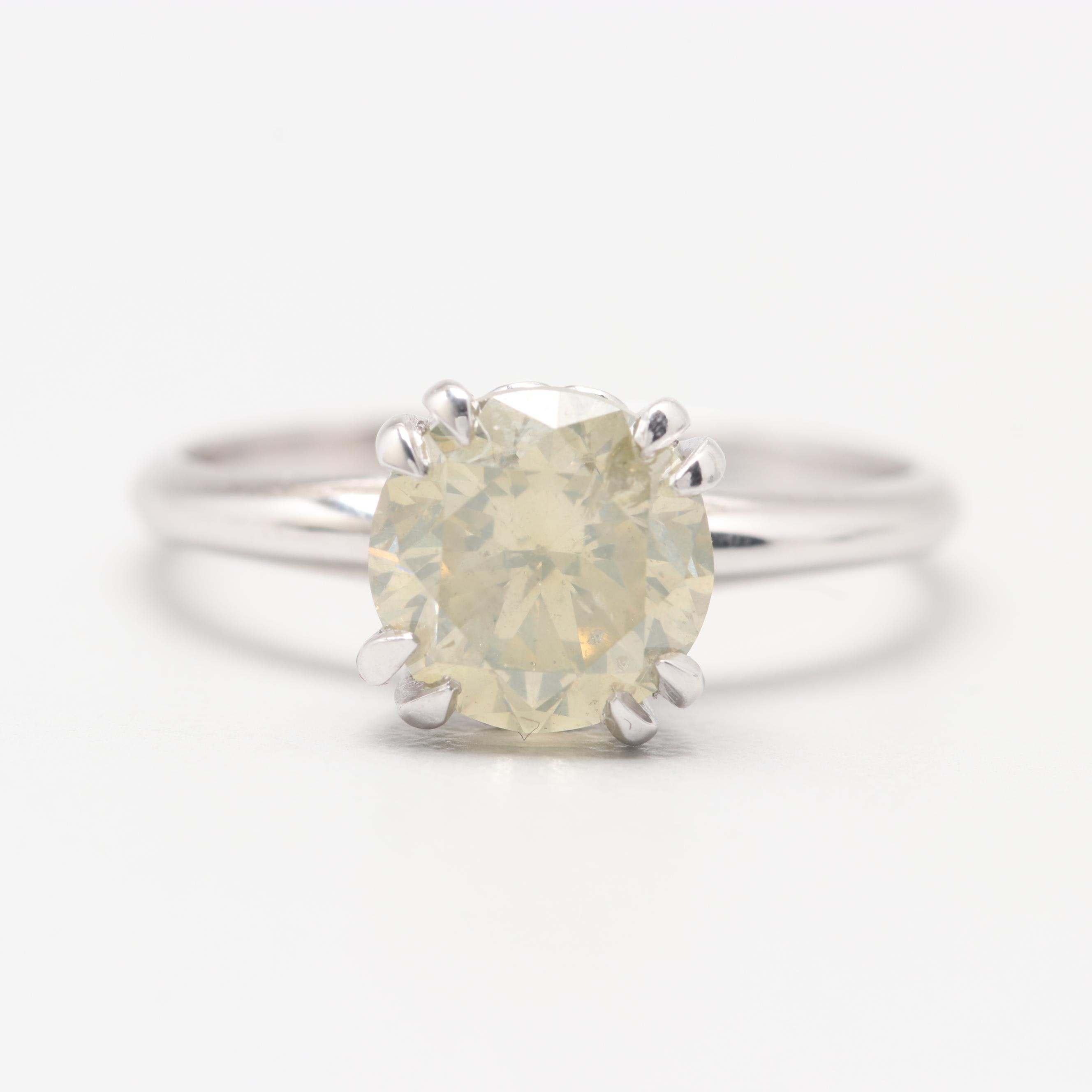 14K White Gold 1.77 CT Diamond Ring