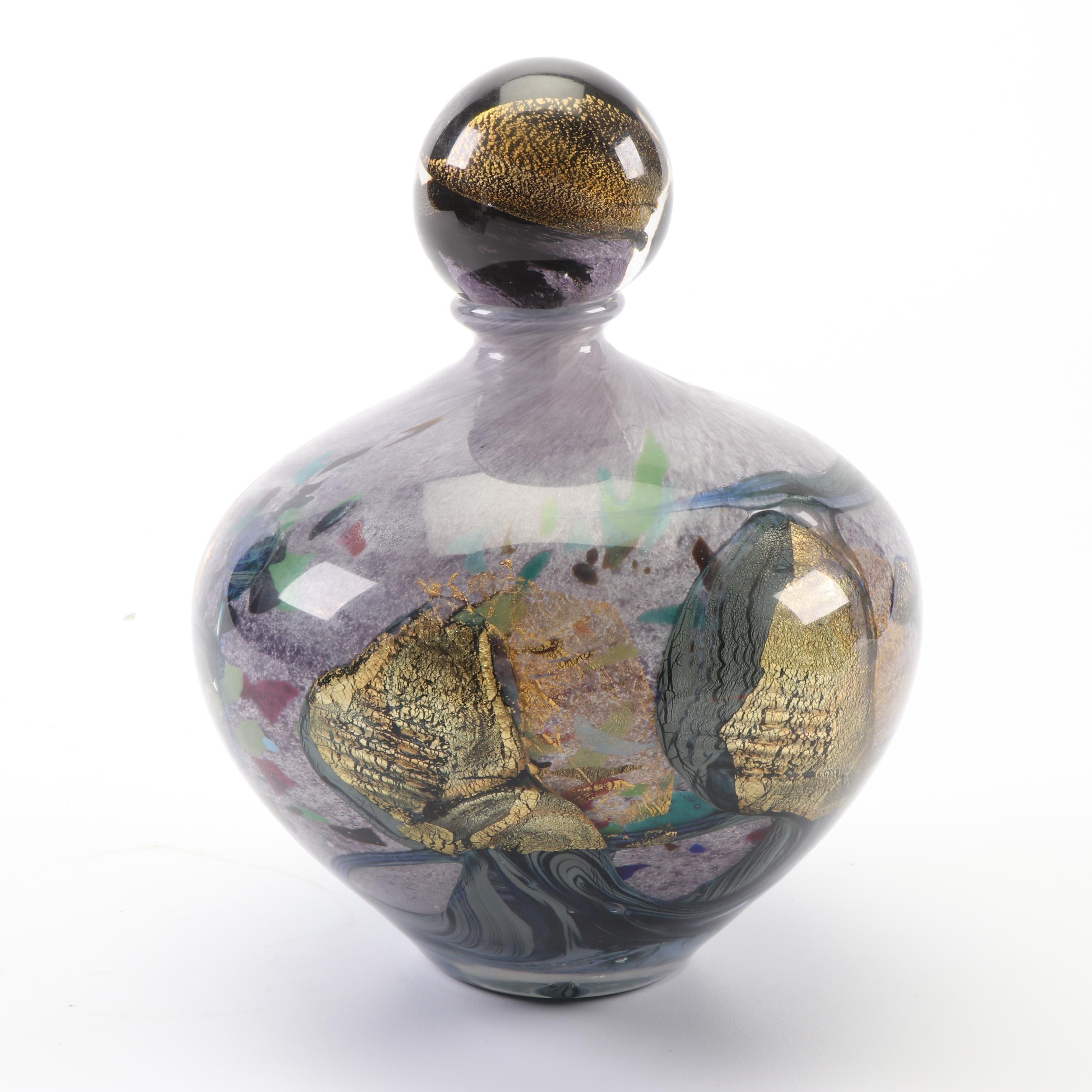 "Jean-Claude Novaro ""Flacon"" Art Glass Bottle"