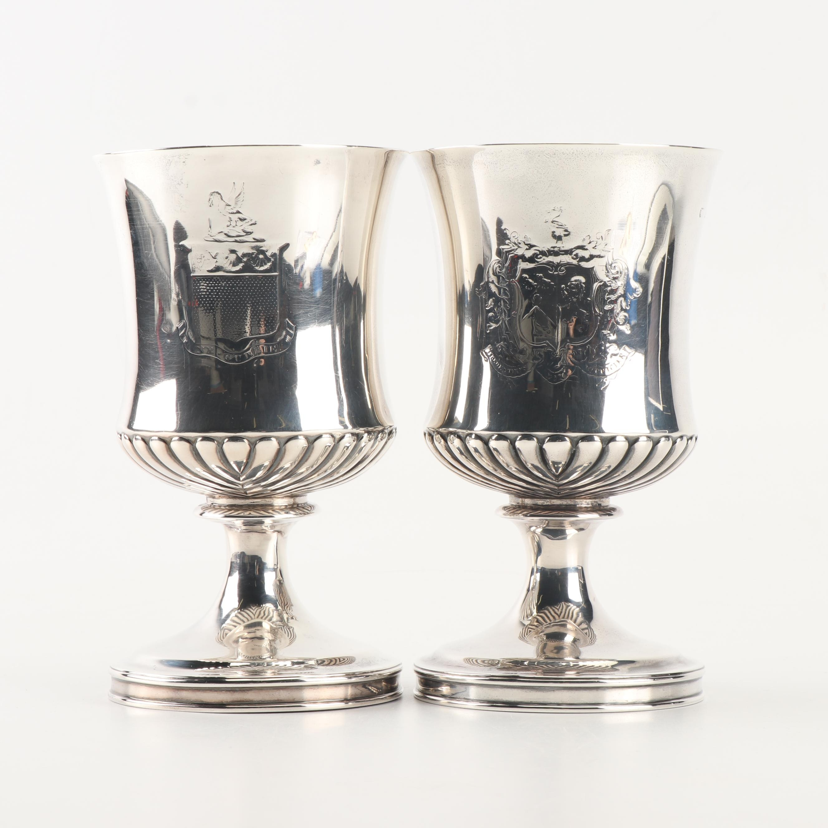Pair of George III Silver Goblets, London 1814