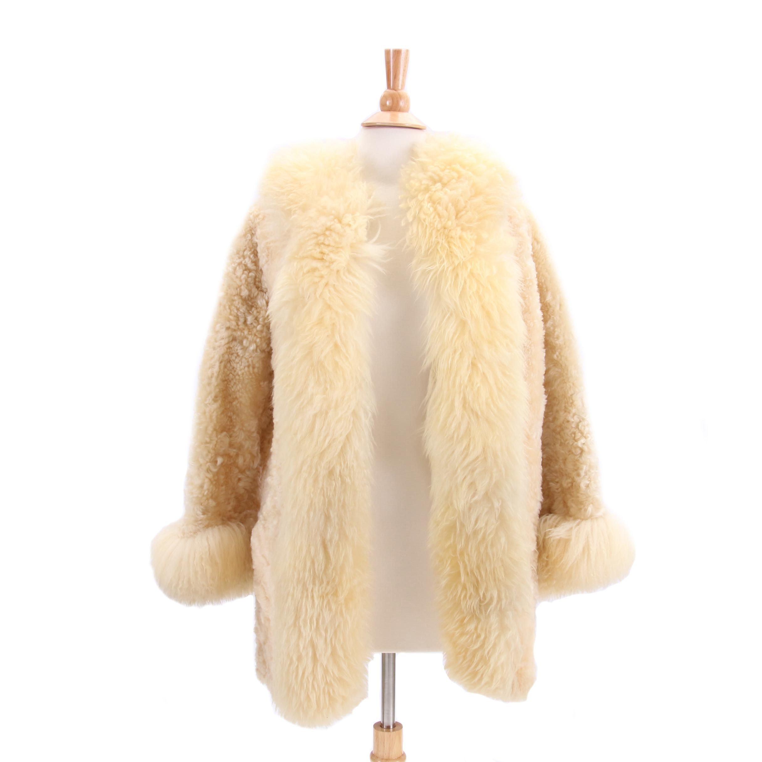 Women's 1970s Vintage Cyn Baa Lambskin Shearling Jacket