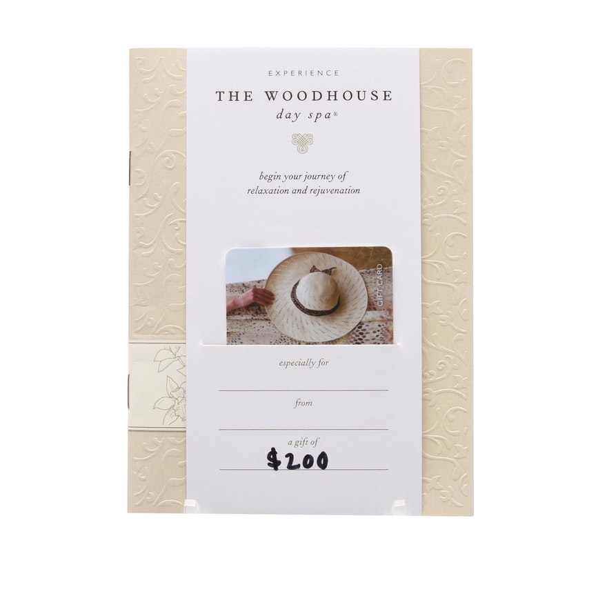 Gift Certificate To The Woodhouse Day Spa