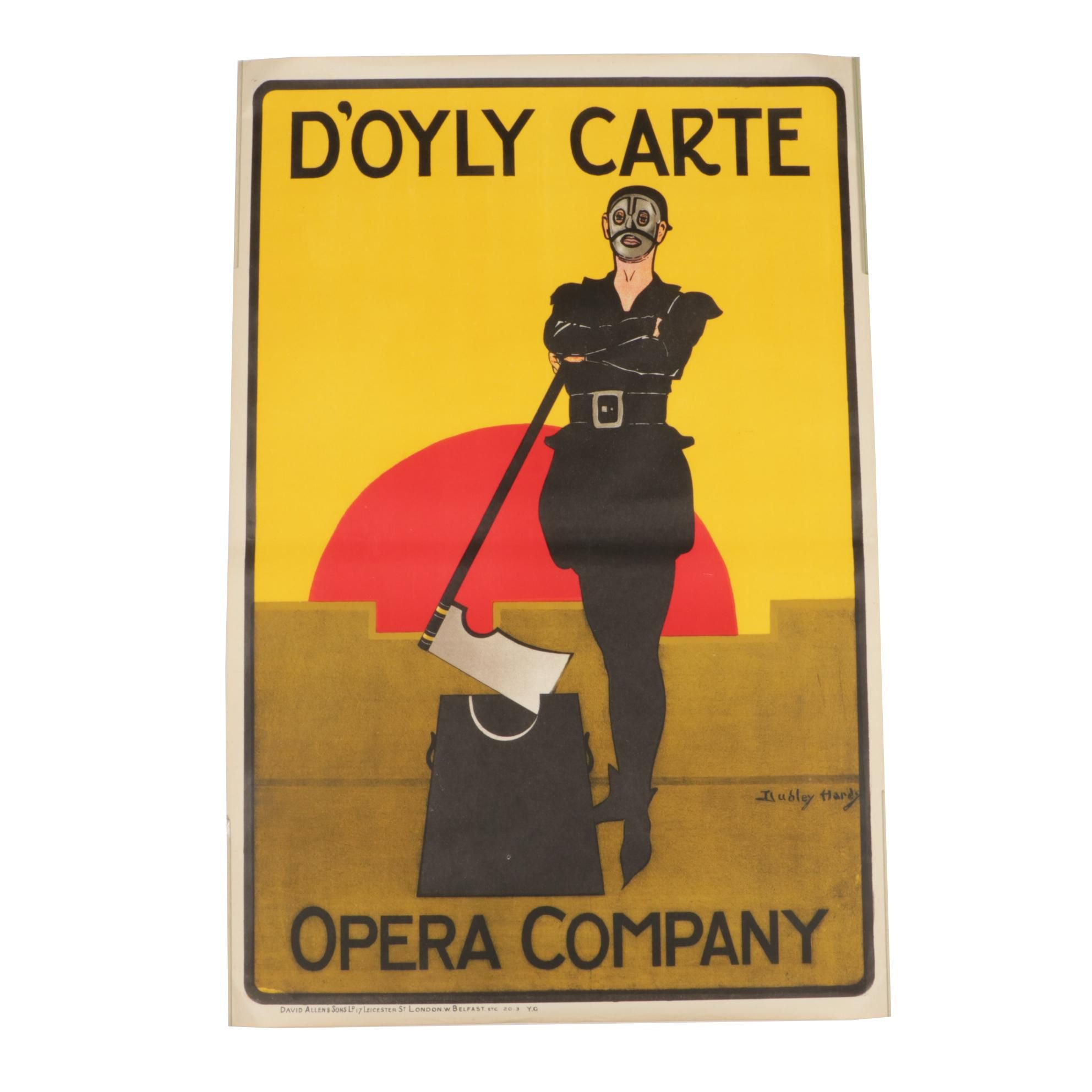 Lithograph Poster after Dudley Hardy for D'Oyly Carte Opera Company