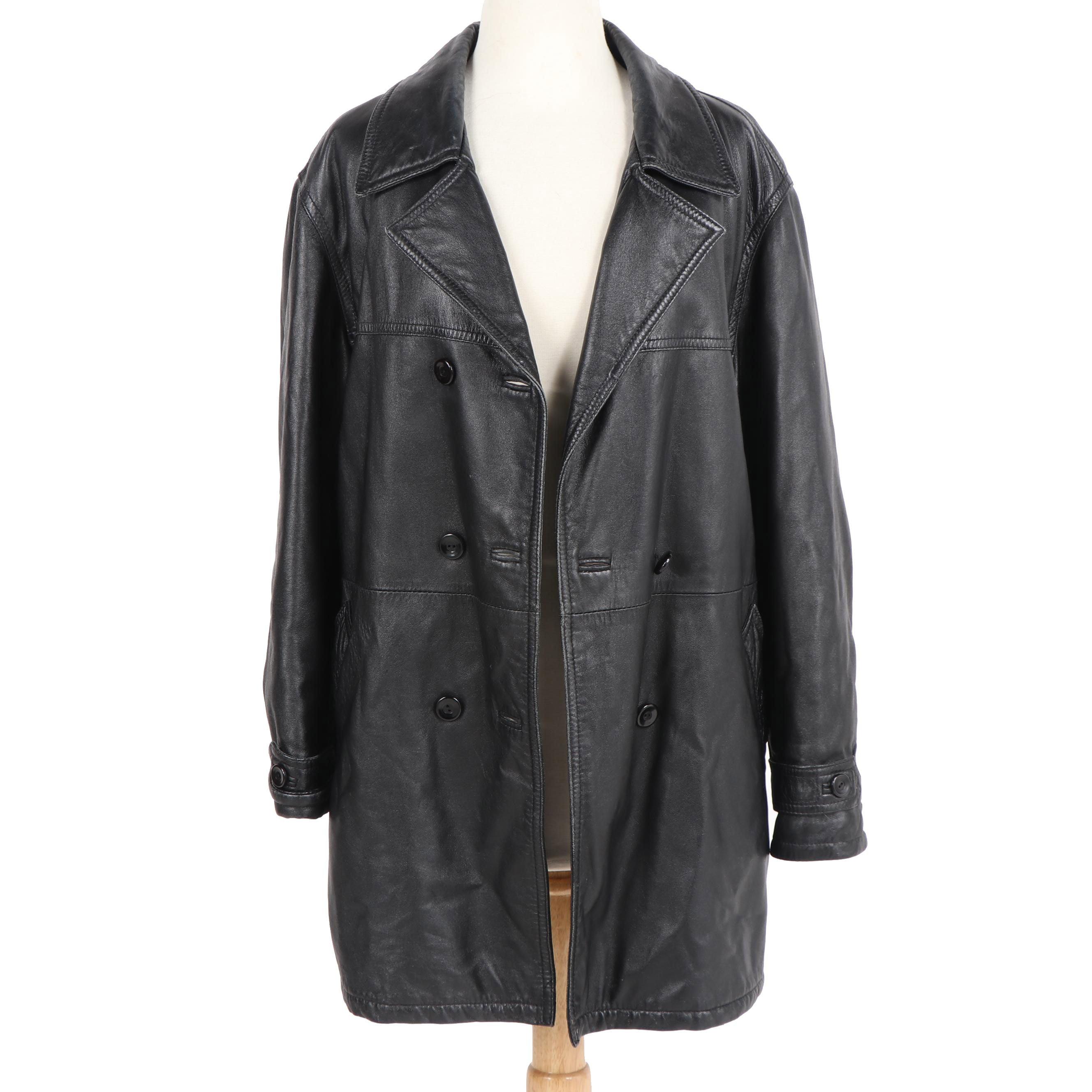 Women's Compagnie de Cuir Black Leather Coat