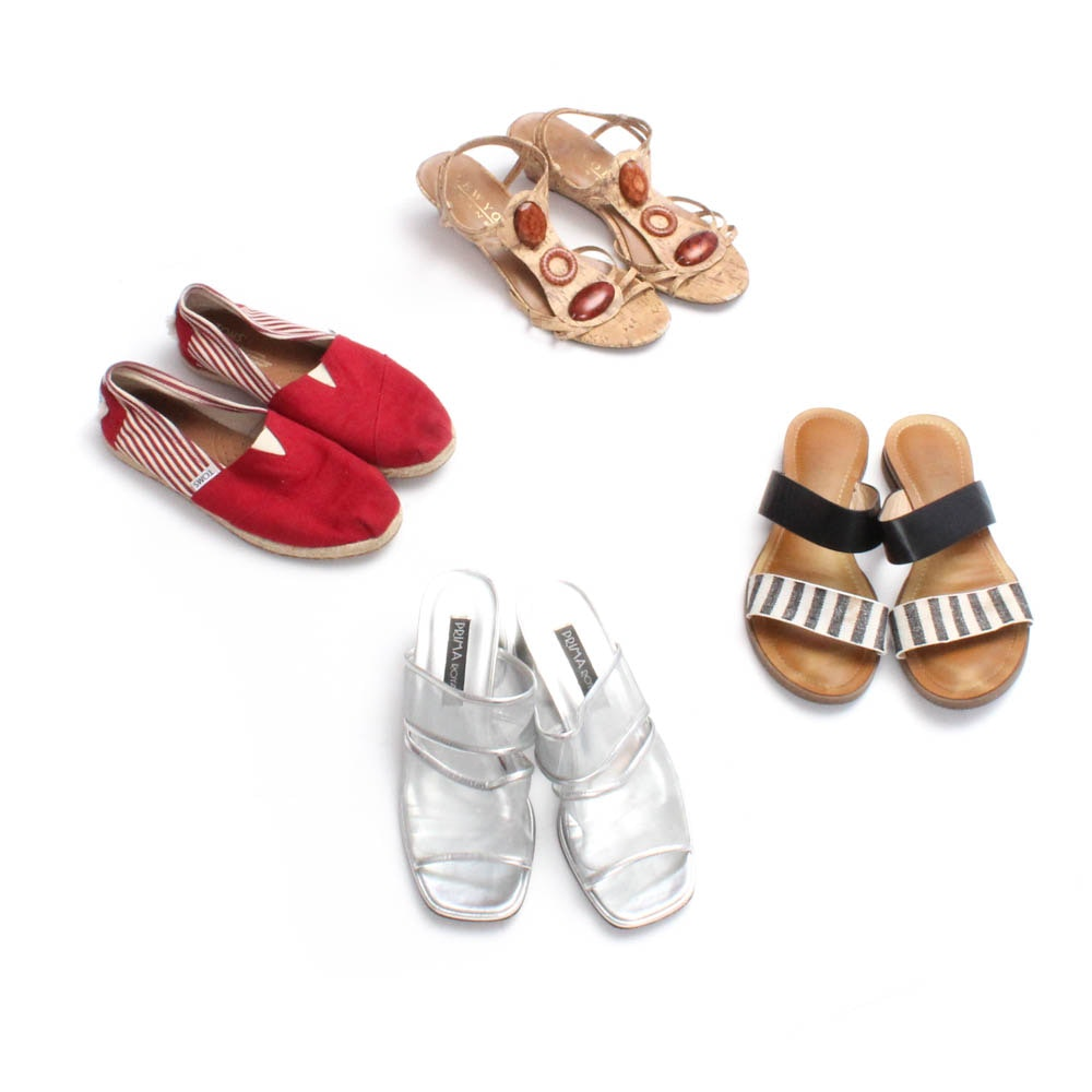 Women's Flats and Sandals including Toms