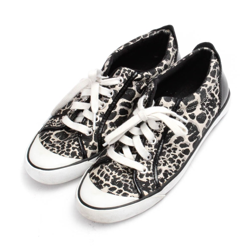 Coach Printed Canvas and Patent Leather Sneakers   EBTH 1cdb69b5b