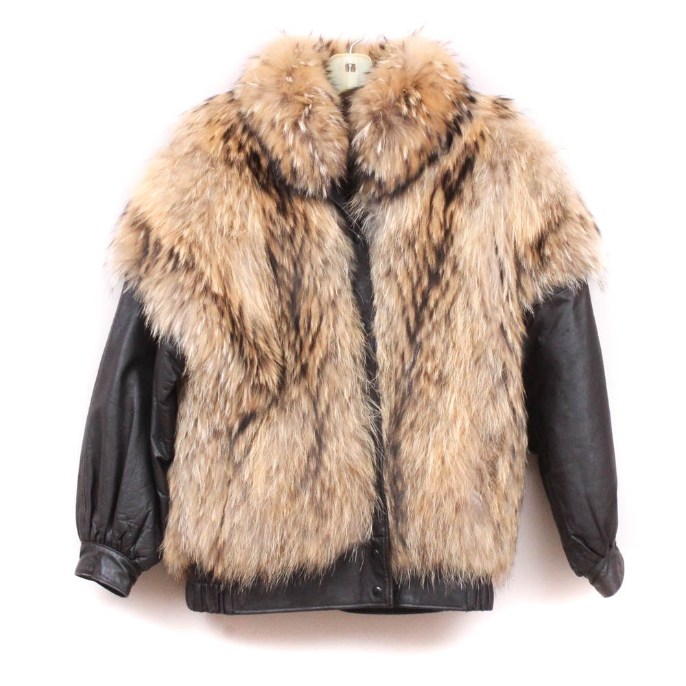 Lamb Leather and Finnish Raccoon Fur Jacket