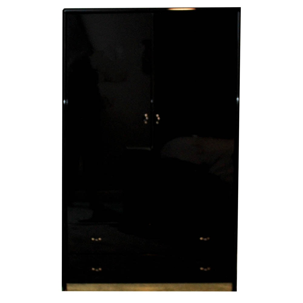 EA by Stanley Black Lacquer Armoire
