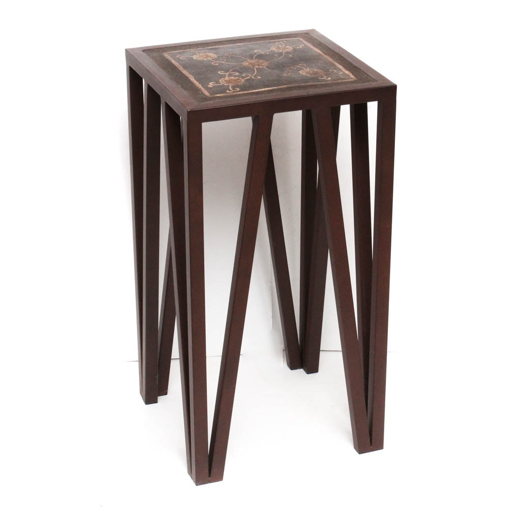 Metal Frame Accent Table