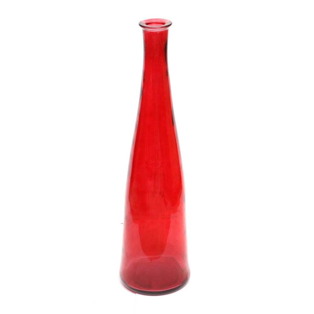Red Glass Floor Vase