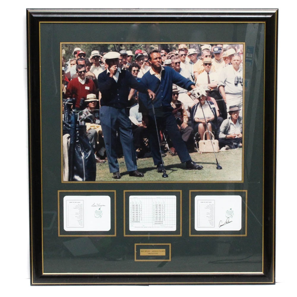 Arnold Palmer and Ben Hogan 1966 Masters Autographed Scorecards