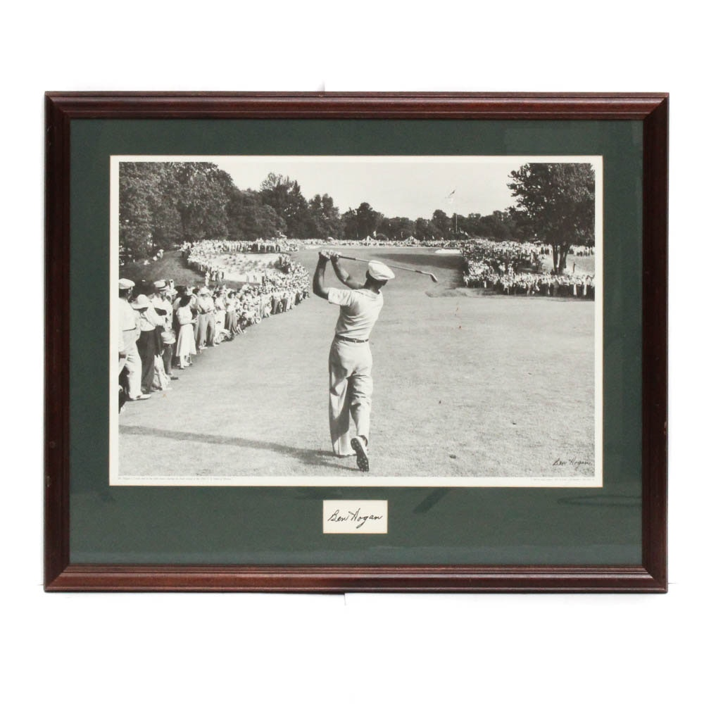 Ben Hogan Signed Offset Lithograph