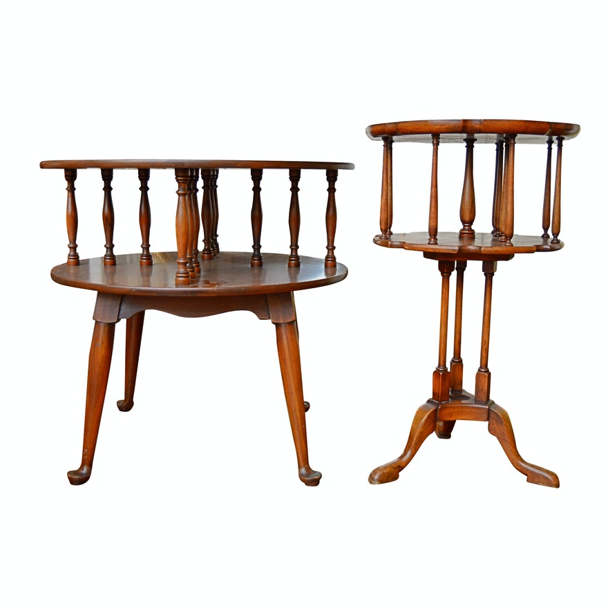 Miraculous Vintage Willett Federal Style Cherry Tables Alphanode Cool Chair Designs And Ideas Alphanodeonline