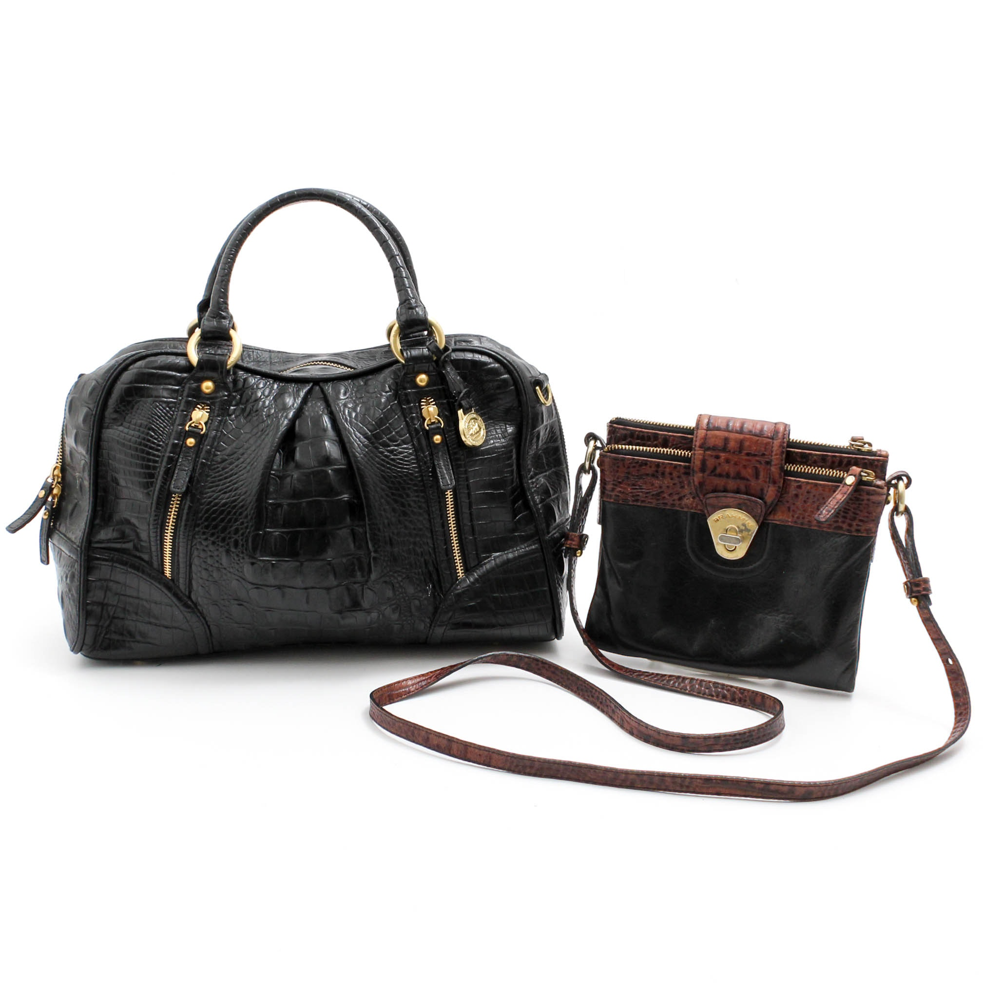 Brahmin Embossed Leather Handbags