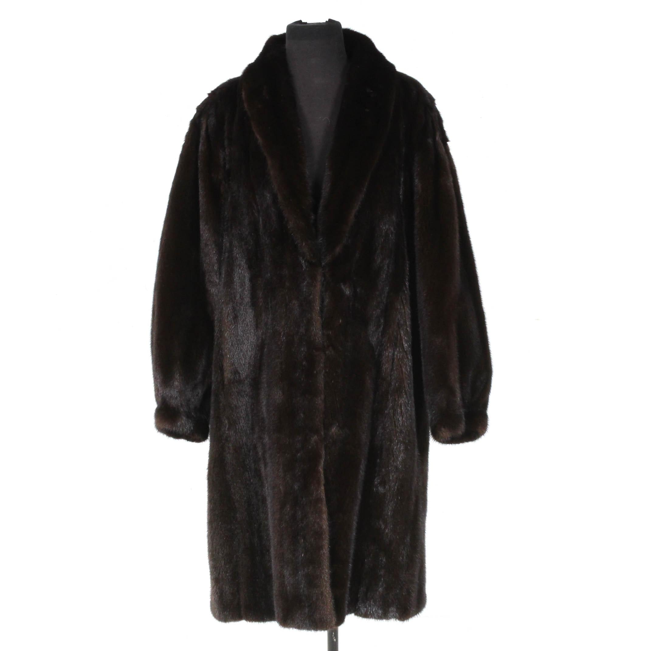 Vintage Dark Mahogany Fur Coat