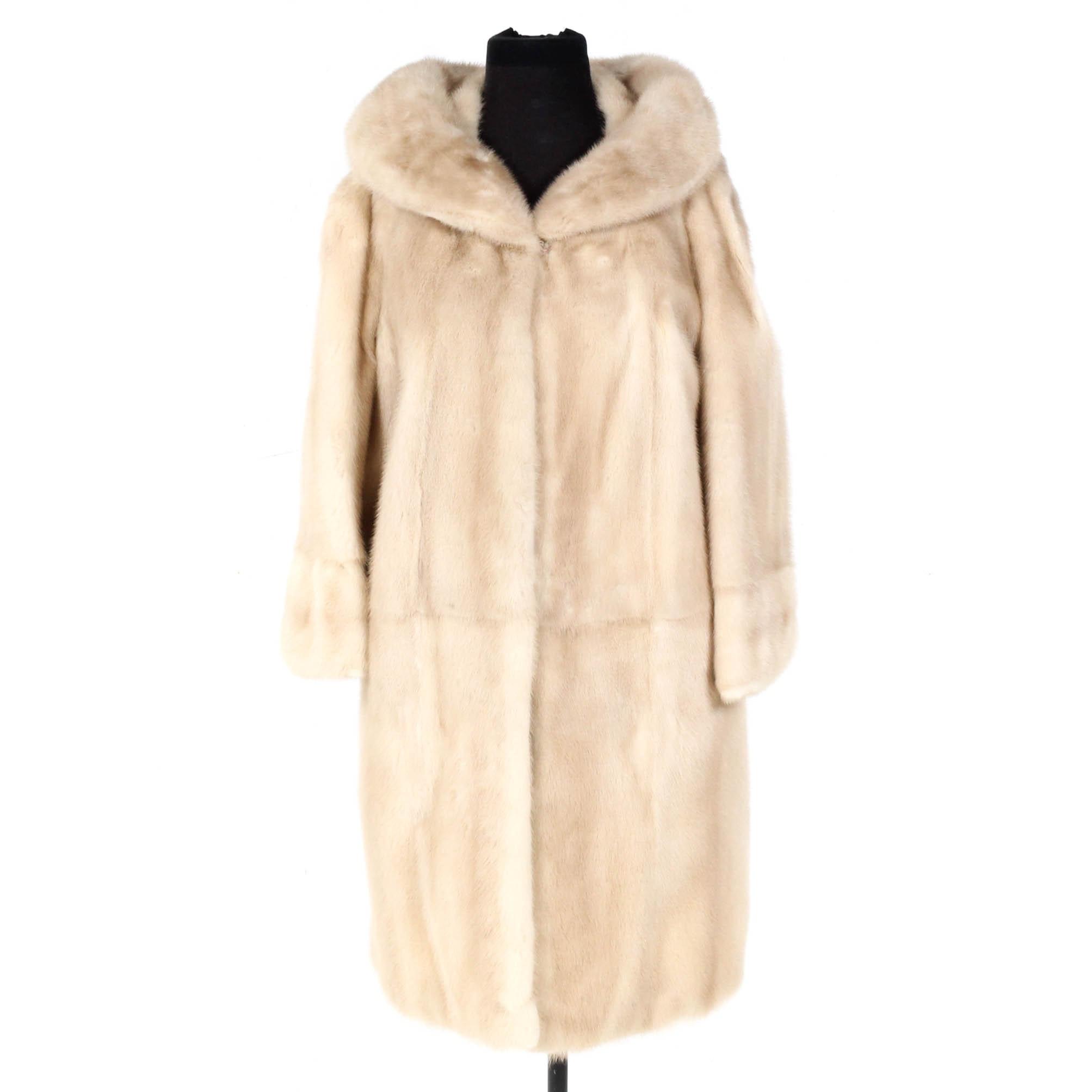 Vintage Pearl Mink Fur Coat