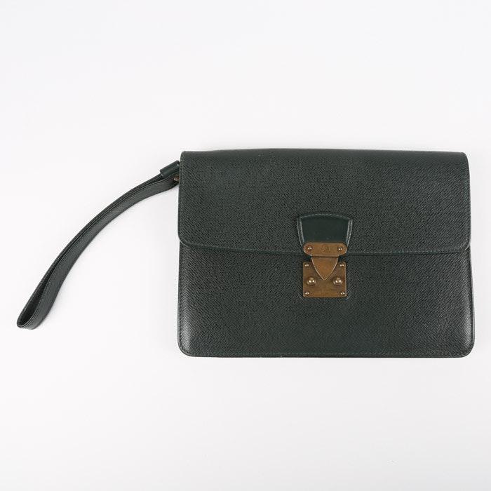 1996 Vintage Louis Vuitton Paris Taiga Leather Belaia Clutch