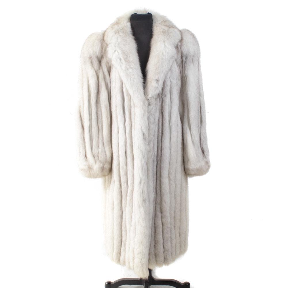 White Fox Fur Coat by Swan Furriers