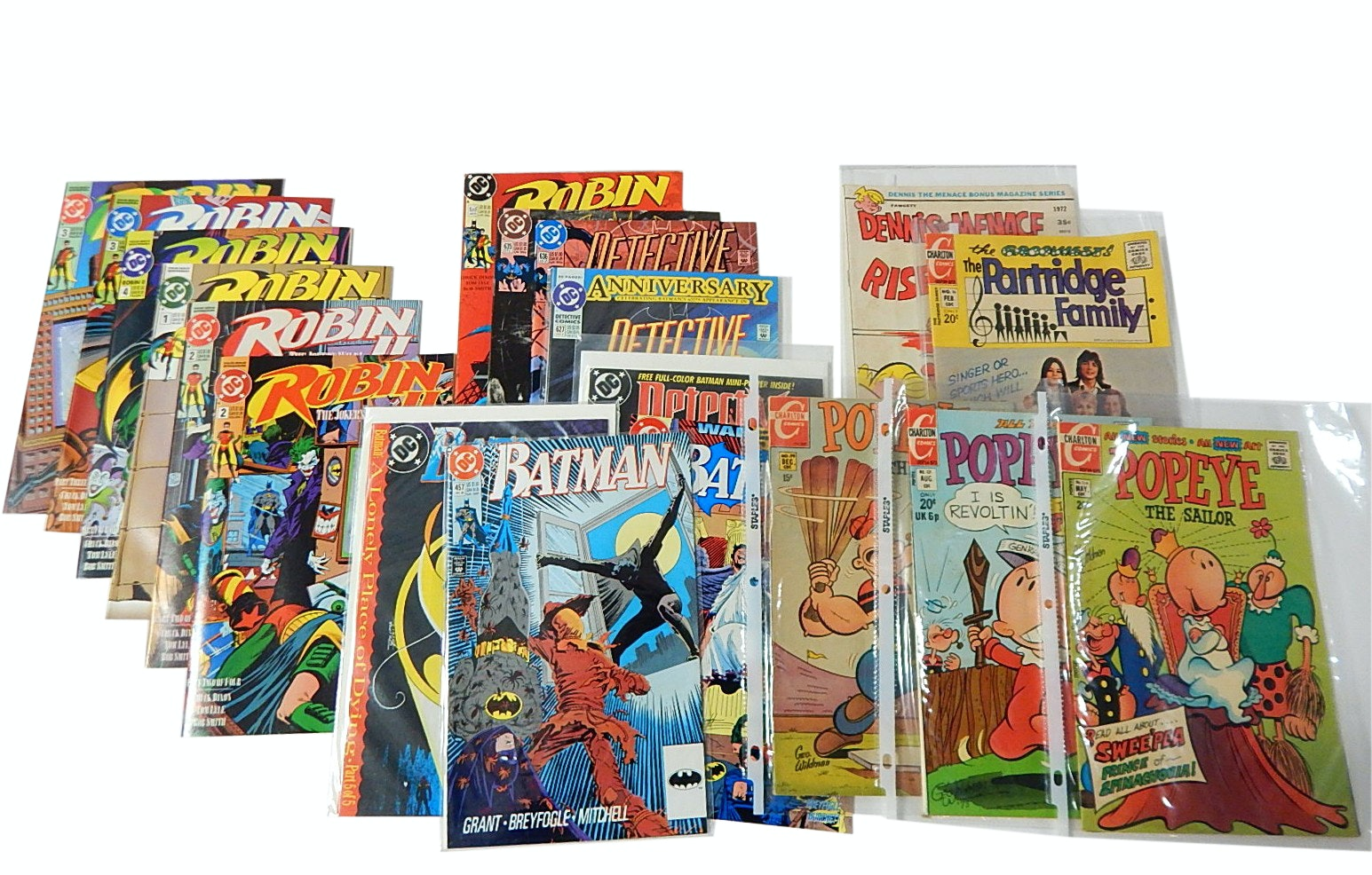 """Vintage Silver, Bronze, Modern Age Comic Books with Popeye, """"Batman"""" and More"""