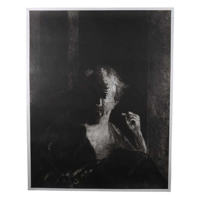 George Segal Etching with Aquatint Portrait