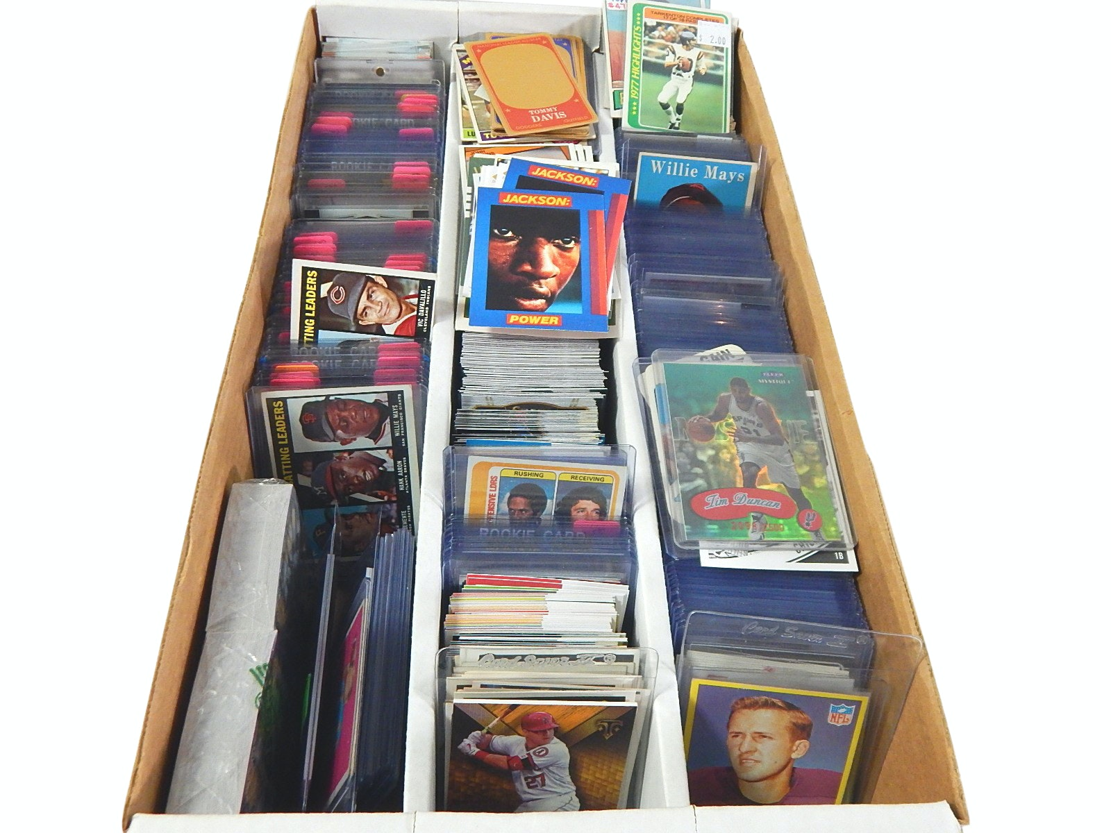 Large 3200 Count Box of Star Baseball, Basketball, and Football Cards