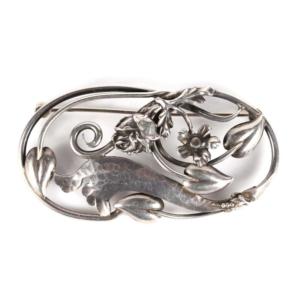 LaPaglia Sterling Silver Brooch